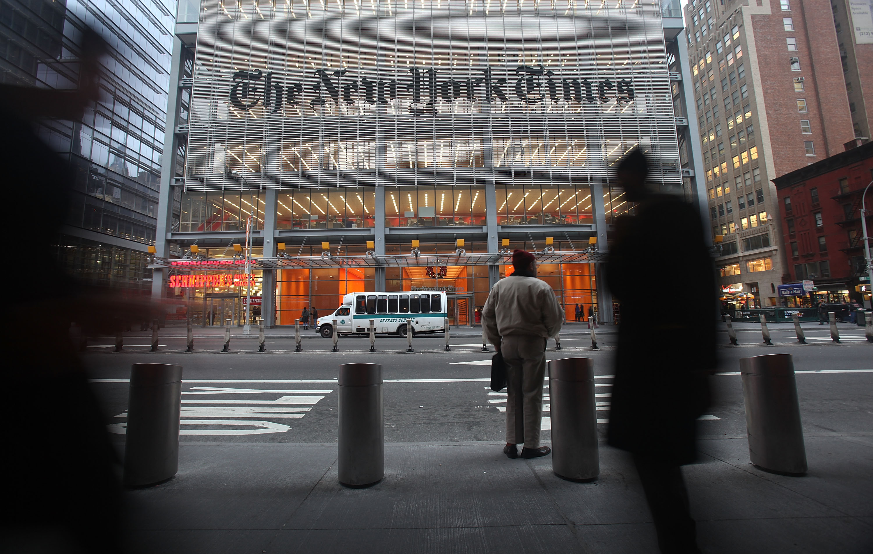 The New York Times' midtown Manhattan headquarters.