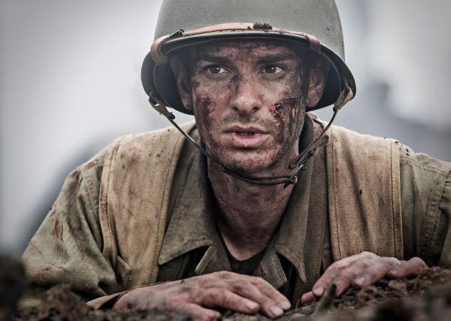 Andrew Garfield as Desmond Doss.