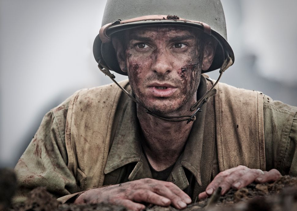 Andrew Garfield as Desmond Doss.