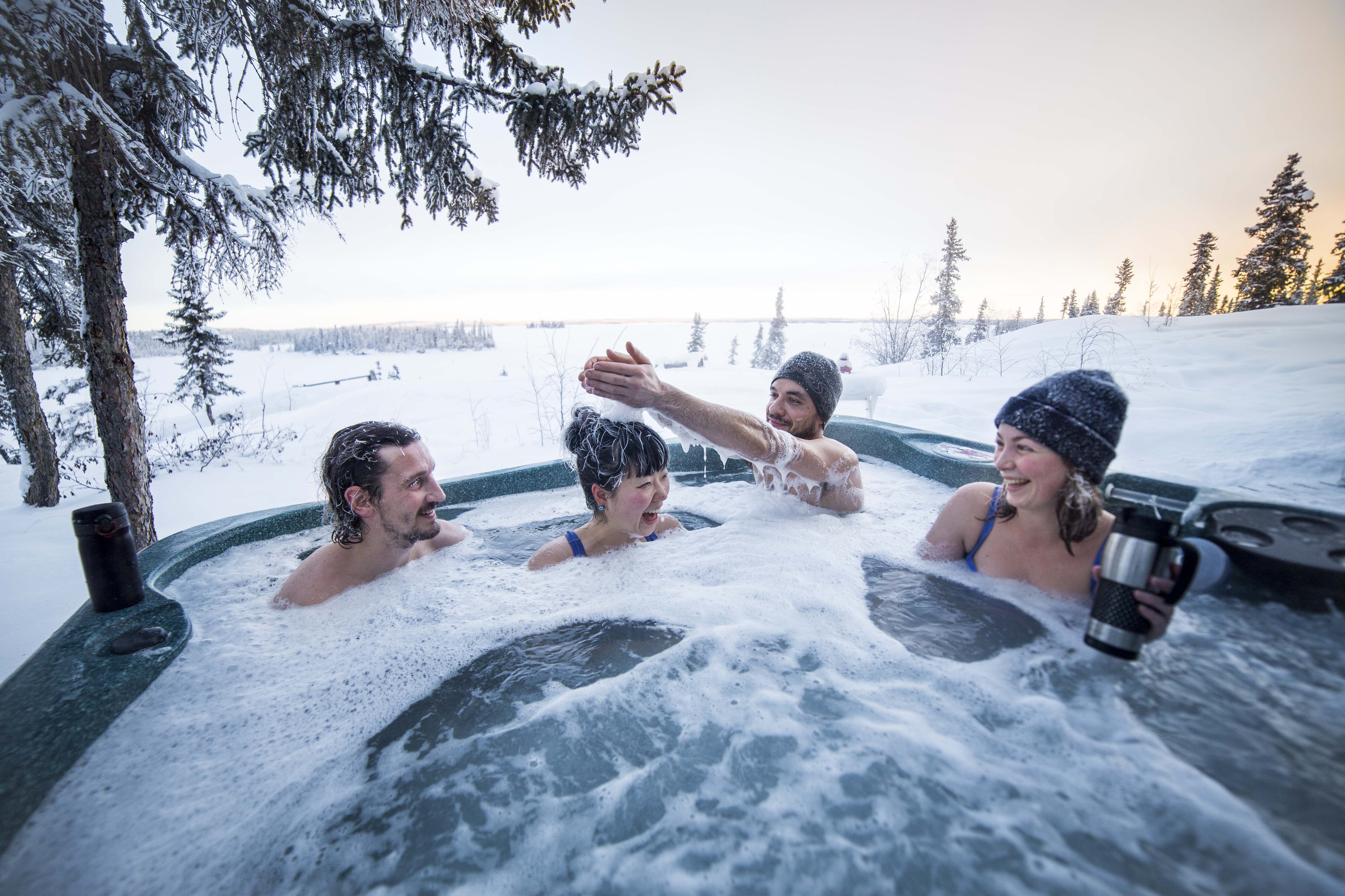 You won't even be tempted to use your phone in the hot tub.