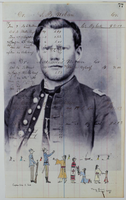 Ledger art of Captain Silas S. Soule by George Levi (2014).