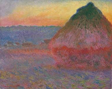 Claude Monet's Meule (Grainstack).