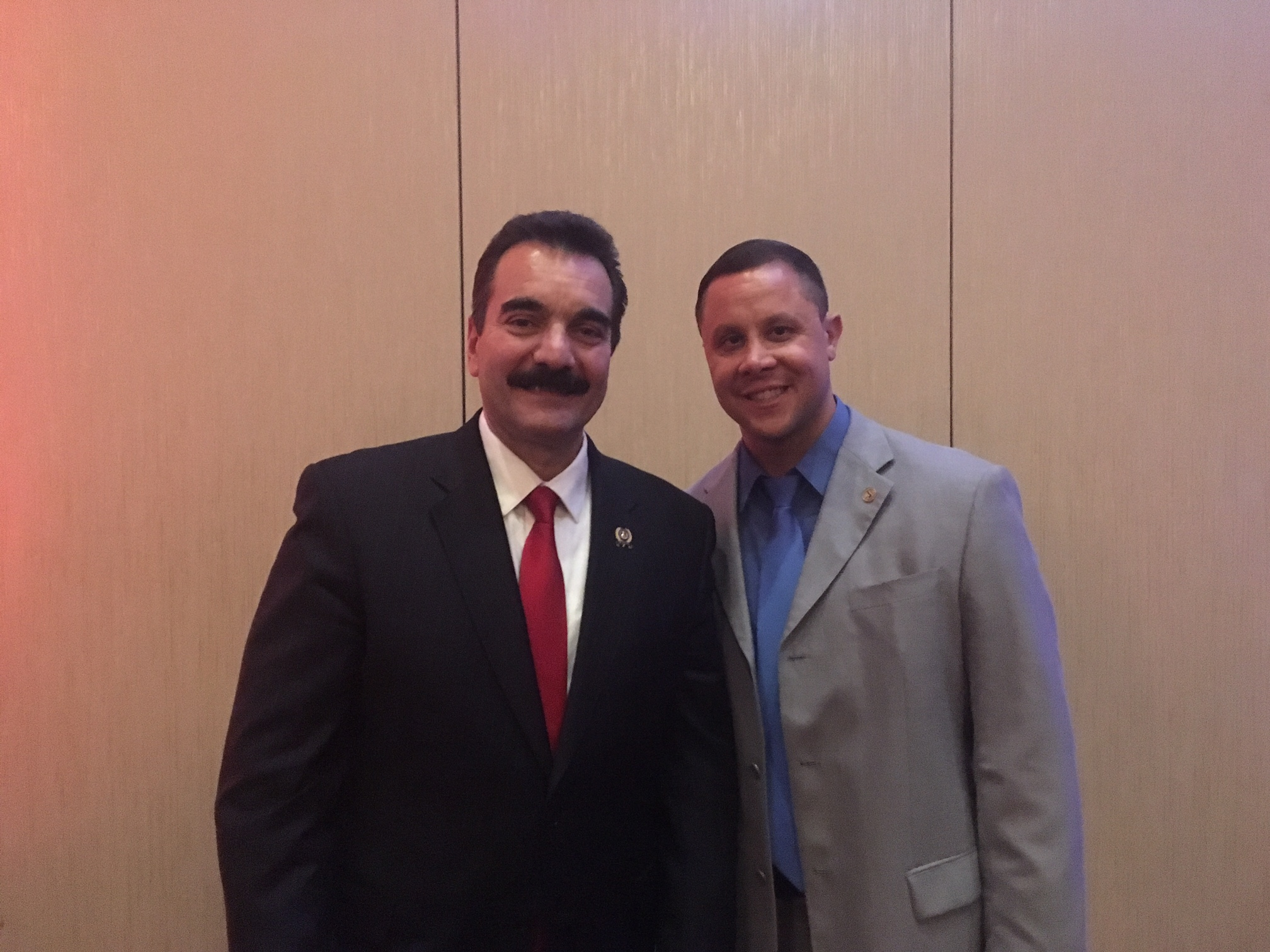 Prieto was honored during an event at Harrah's.