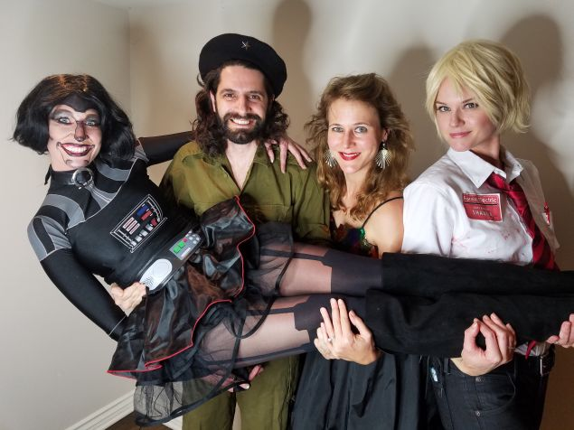 Jon Levy and friends at Max Landis Halloween party in Los Angeles.