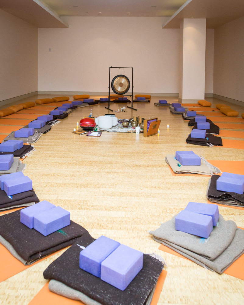 A Pure Yoga sound bath.