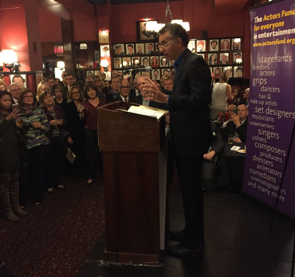 Past best actor recipient Brian Stokes Mitchell got the early crowd at Sardi's reaching for their checkbooks.