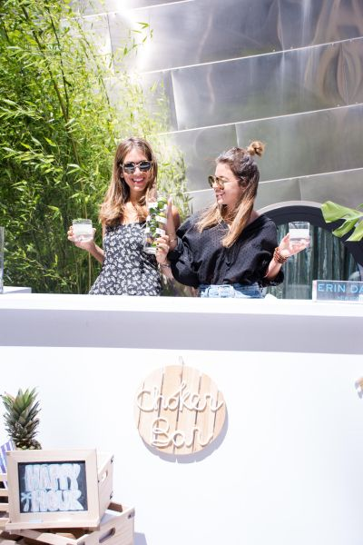 Erin and Robyn toasting to their first ever Choker Bar event at the Dream Hotel in Meatpacking.