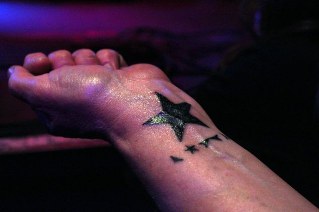 A Bowie fan with the ink still fresh on her ★ tattoo