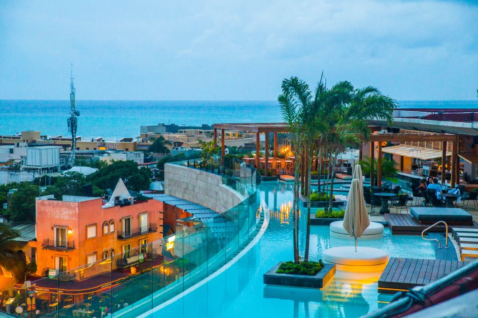 The 30,000 square foot rooftop at The Thompson Playa Del Carmen