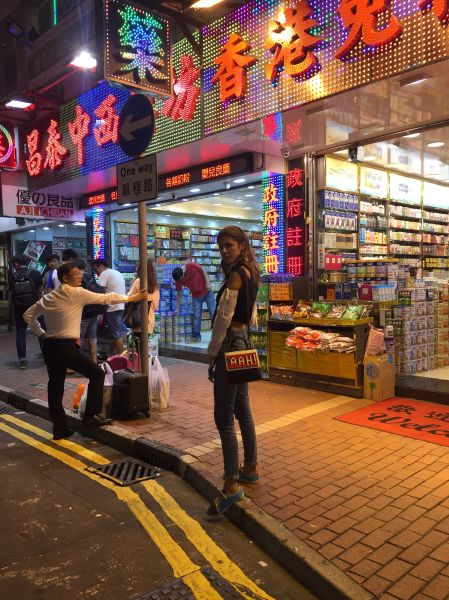 Colorful shopping abounds in Hong Kong.