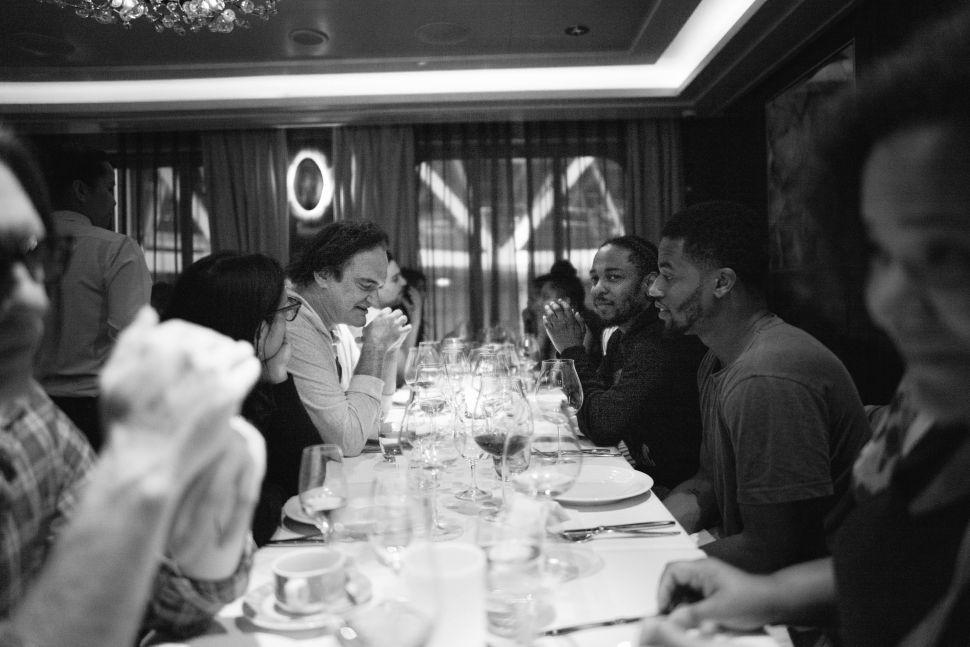 Quentin Tarantino and Kendrick Lamar, Photo by