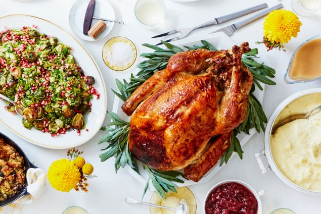 Everything you need to cook Thanksgiving dinner, including the turkey, sent to your door in a box.
