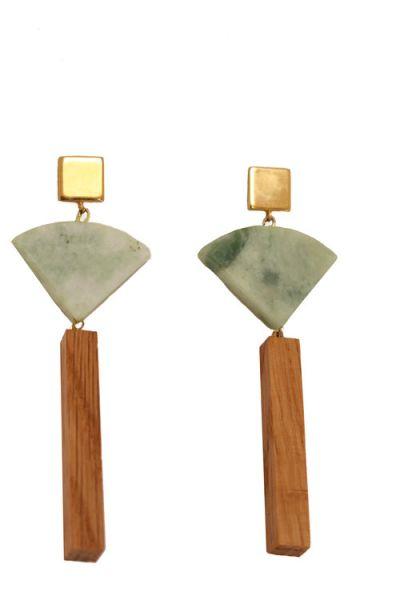 The Mineral Fan Earrings