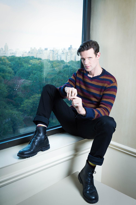 Actor Matt Smith at the JW Marriott Essex House in Manhattan