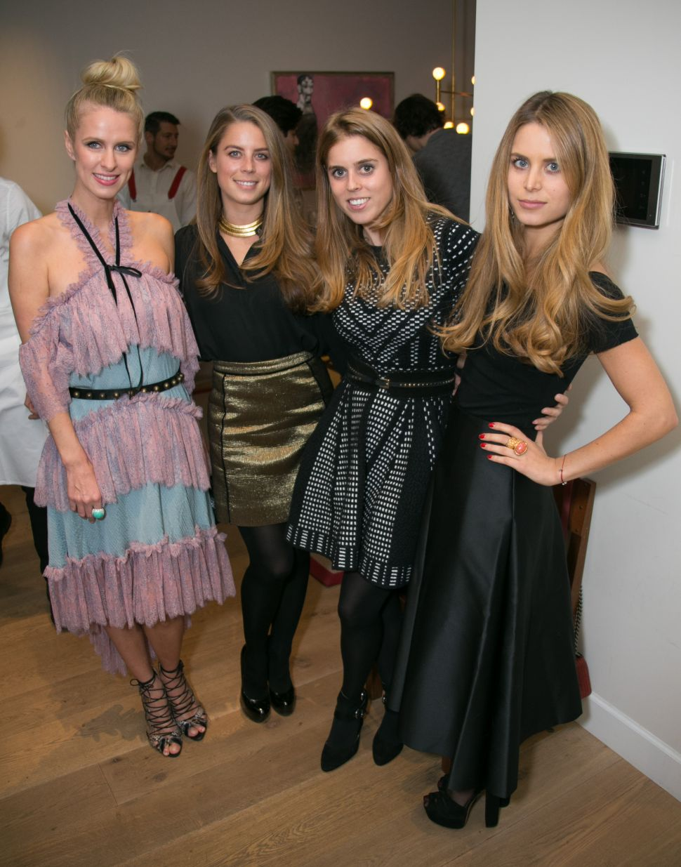 Nicky Hilton, Lydia Forte, Princess Beatrice of York, Irene Forte