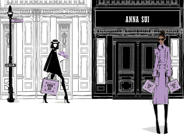 Lavander is Anna Sui's signature color.