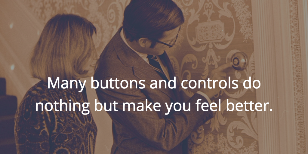 Placebo buttons
