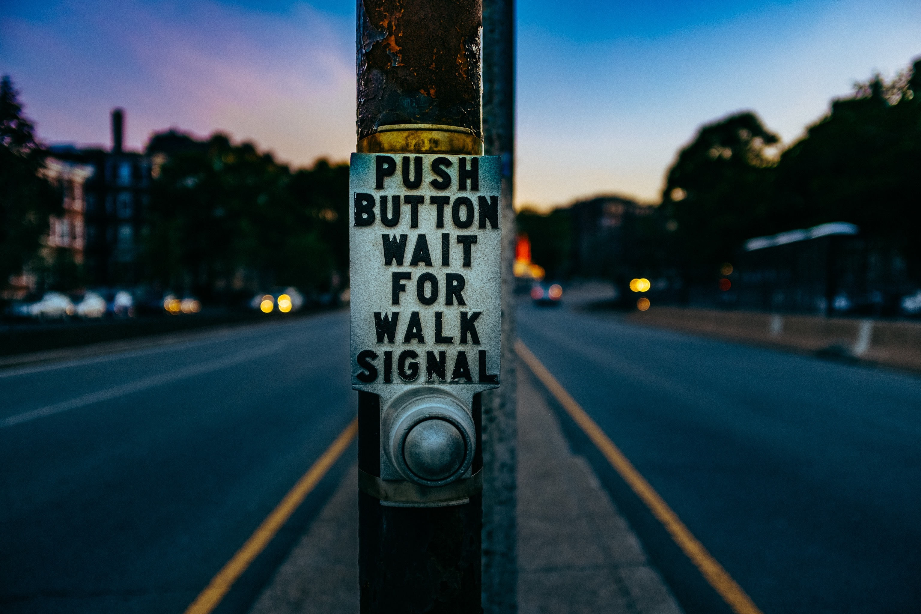 The lowly crosswalk button.