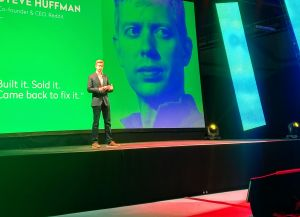 Reddit CEO and co-founder Steve Huffman at The Next Web: Momentum, in New York City.