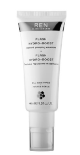 REN, Flash Hydro-Boost Instant Plumping Emulsion.