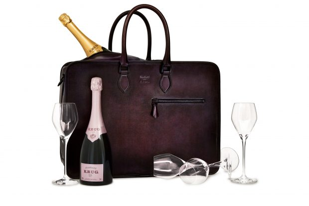 The proper way to drink champagne, is with a specially designed briefcase.
