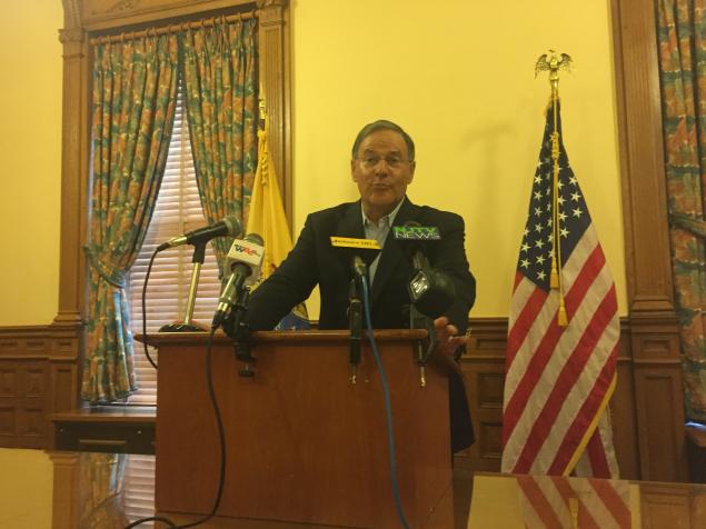 Assembly Minority Jon Bramnick at a Monday press conference at the State House.