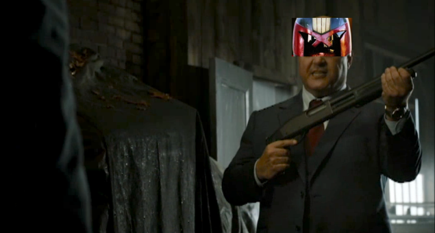 Michael Chiklis as Judge Joseph Dredd.