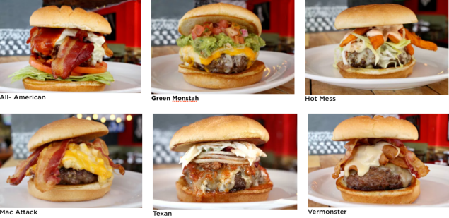 Just a few of their famous burgers.