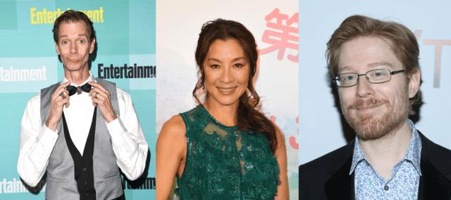 (L-R) Doug Jones, Michelle Yeoh and Anthony Rapp.