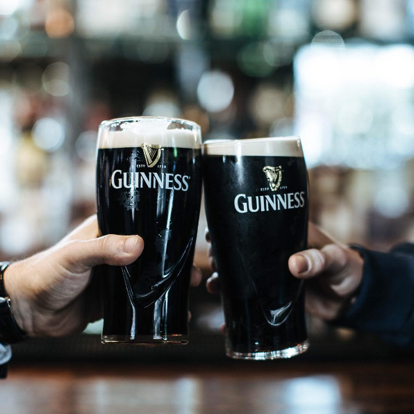 Pints of Guinness Draught.