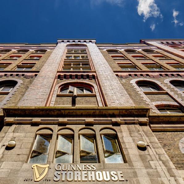 The Guinness Storehouse in Dublin, Ireland.