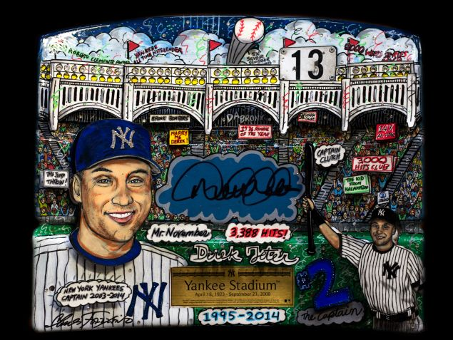 A Charles Fazzino picture of Derek Jeter.