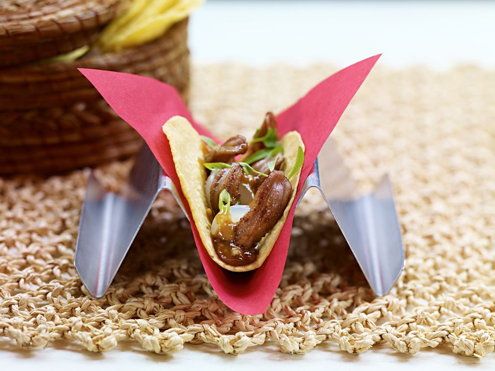 China Poblano's Silencio taco merges Mexican and Asian flavors.