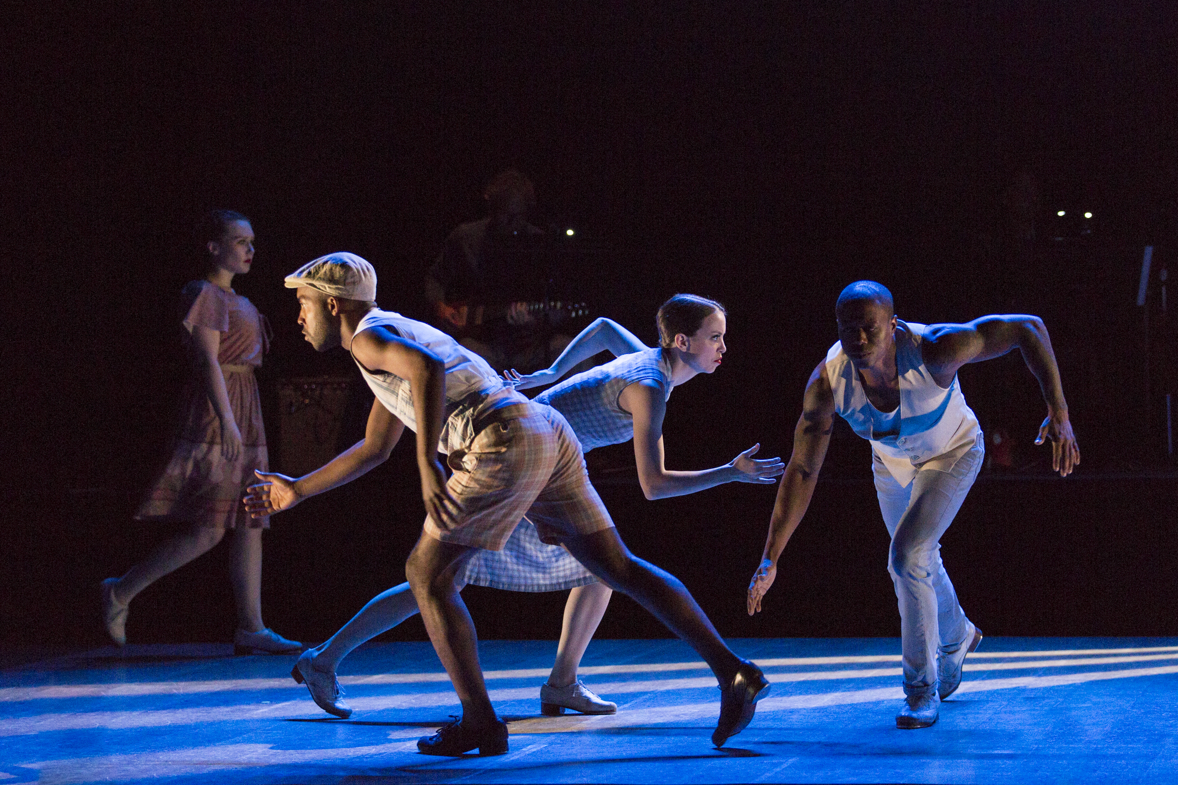 Elizabeth Burke, Byron Tittle, Michelle Dorrance and Christopher Broughton in The Blues Project at The Joyce Theater.