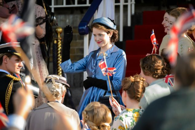 Claire Foy as Elizabeth II in The Crown.
