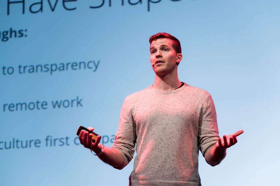 Leo Widrich, Co-founder and COO of Buffer, at The Next Web New York.