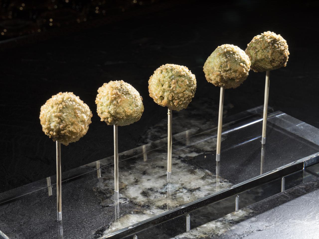 Edamame lollipops.