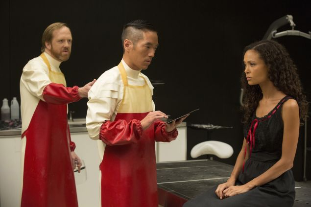 Ptolemy Slocum as Sylvester, Leonardo Nam as Lutz and Thandie Newton as Maeve.