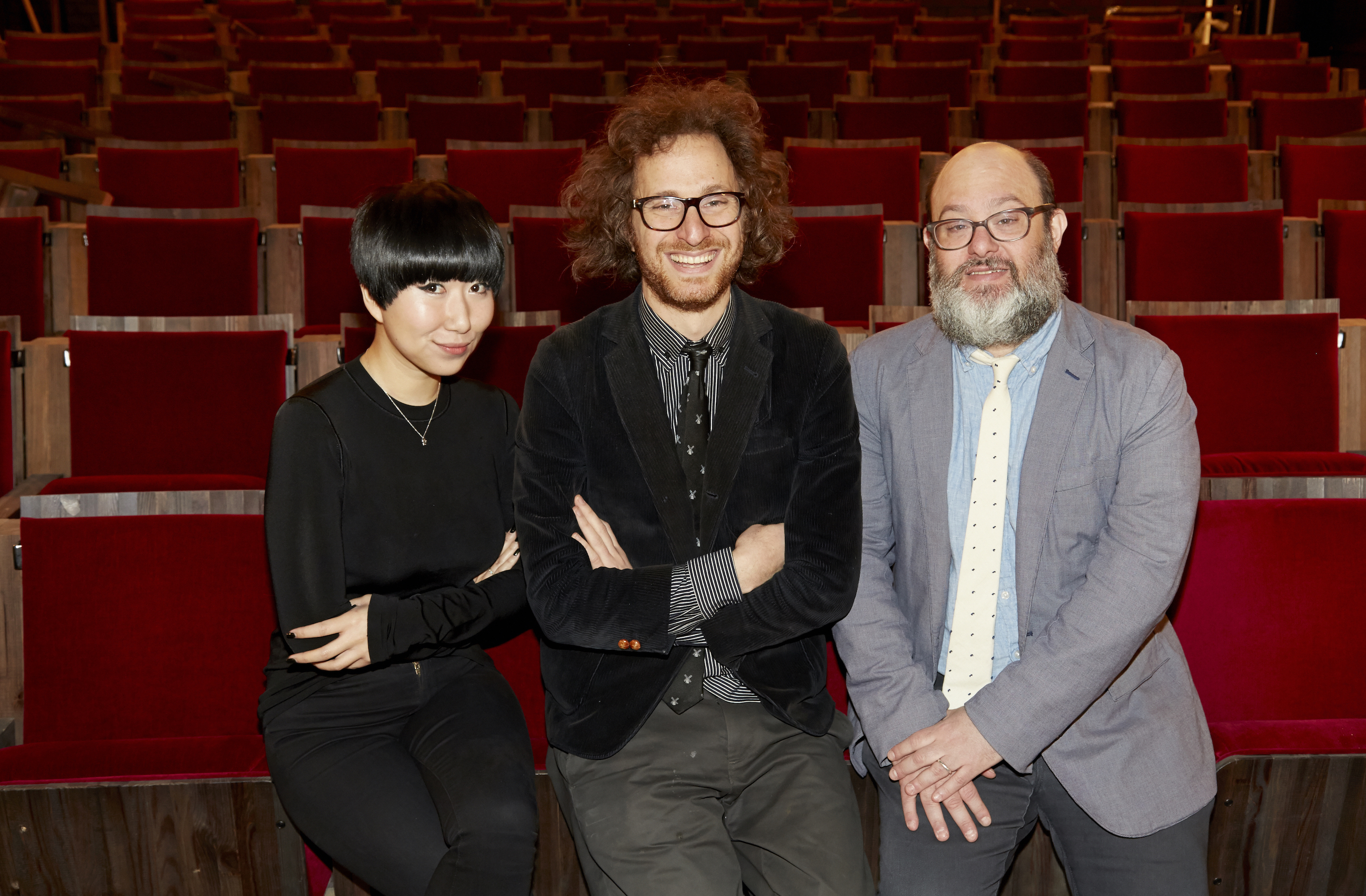 Metrograph program director Aliza Ma, artistic director Jacob Perlin and founder Alexander Olch.