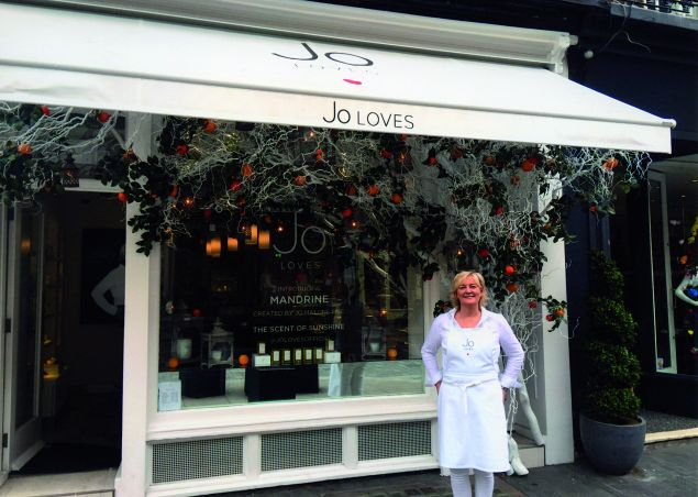 Malone in front of her Jo Loves London shop.