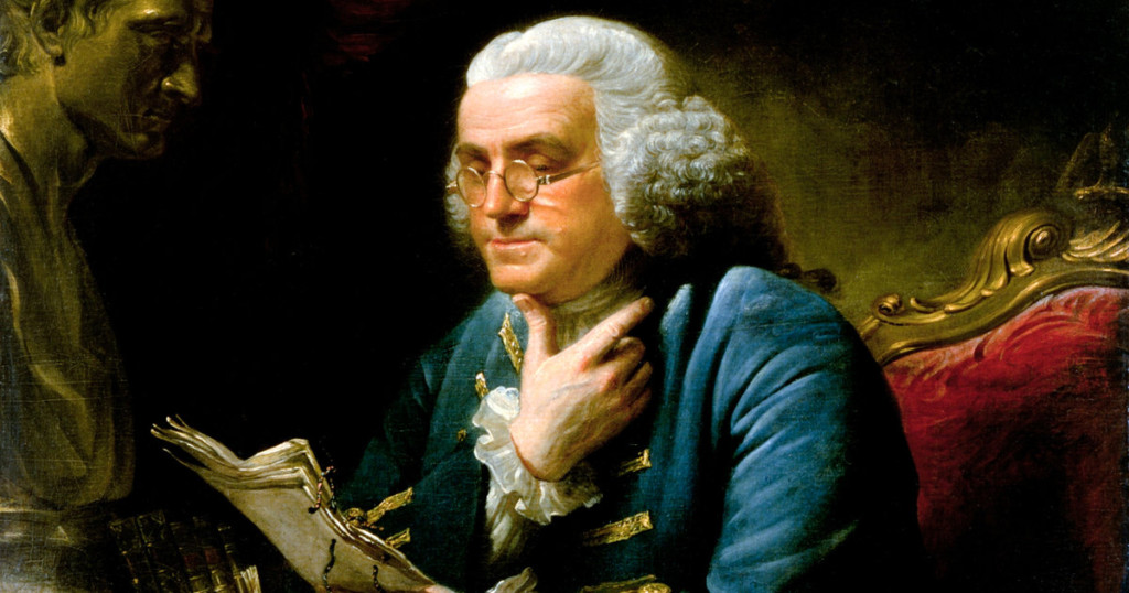 Franklin's literal rags to riches story is packed with insights on writing and a better life.