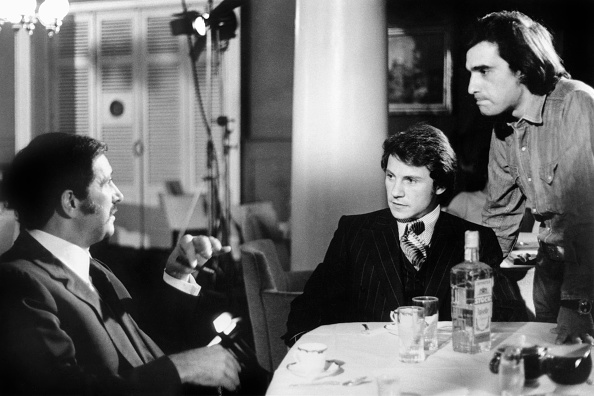 Martin Scorsese directs Cesare Danova and Harvey Keitel in Mean Streets.