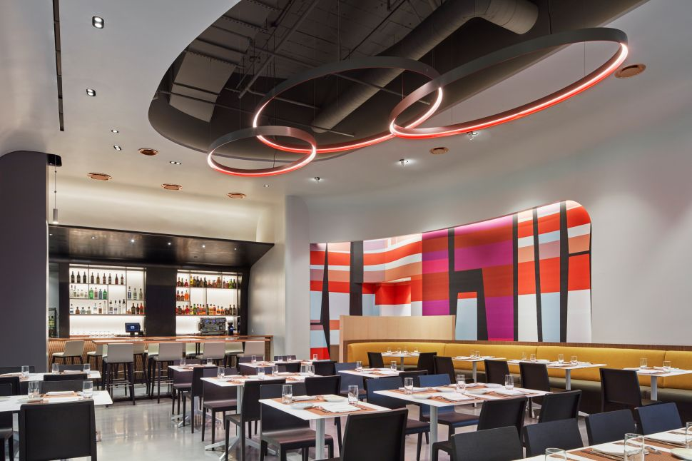 Drago Ristorante is modern and transporting.