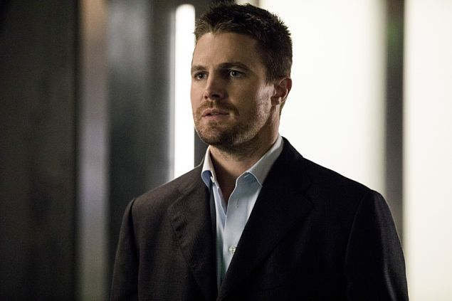 Stephen Amell as Oliver Queen.