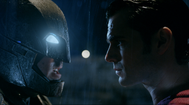 Ben Affleck as Batman and Henry Cavill as Superman.
