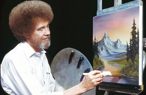 Bob Ross, The Joy of Painting.