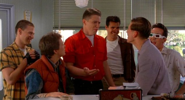 Marty McFly taught his dad how to stand up against bully Biff Tannen in Back to the Future .