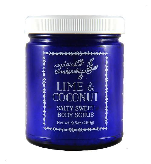 Lime and coconut salty sweet body scrub, $32.