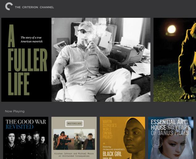 Criterion Channel on the Filmstruck app