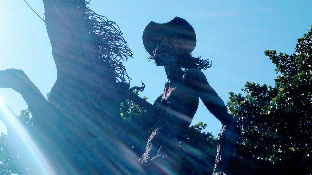A sculpture of Don Quixote in the Vedado area of Havana.